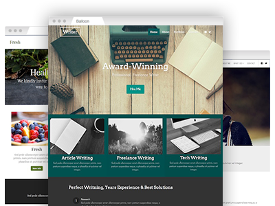 A variety of fully customizable website templates